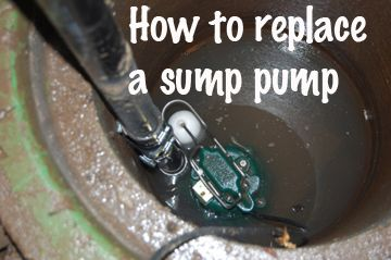 How to replace a sump pump (that is already installed)
