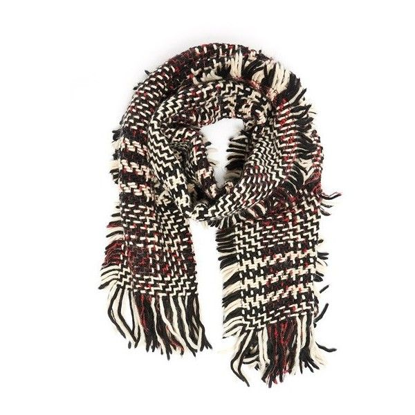 Faliero Sarti 'Princess' Checked Scarf ($177) ❤ liked on Polyvore featuring accessories, scarves, multicolor, multi colored scarves, colorful shawl, faliero sarti, faliero sarti scarves and checkered scarves