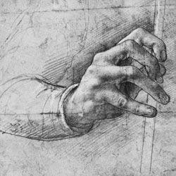 Leonard de Vinci, Etude de main