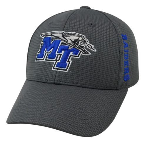 Top of the World Men's Middle Tennessee State University Booster Plus Cap (Charcoal, Size One Size) - NCAA Licensed Product, NCAA Men's Caps at Aca...