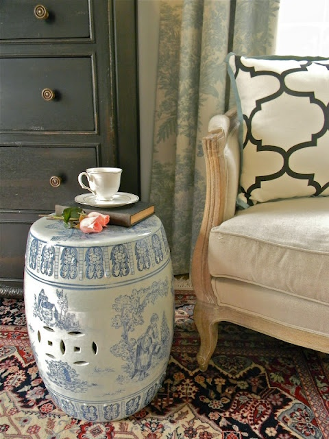Garden Stools Make Wonderful Little Side Tables Decorate Pinterest Home And Living Room