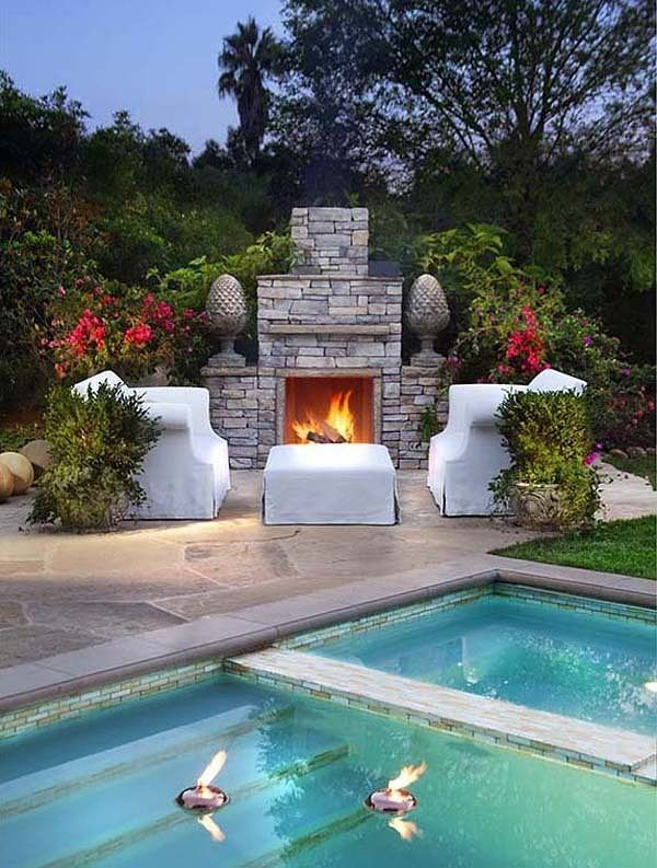Best Gardens Pools Images On Pinterest Outdoor Spaces - House with garden and swimming pool