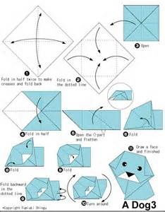 Dog origami instructions with 11 steps origami dog head for How to fold a crane step by step