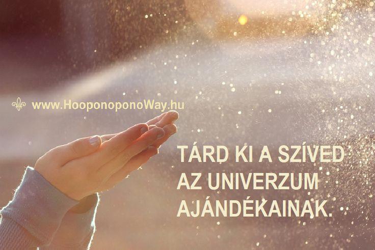 Hálát adok a mai napért. Tárd ki a szíved az Univerzum ajándékainak. Készíts helyet a csodáknak. Engedd el mindazt, ami már nem szolgálja az életed. Így szeretlek, Élet! Köszönöm. Szeretlek ❤️  ⚜ Ho'oponoponoWay Magyarország ⚜ www.HooponoponoWay.hu