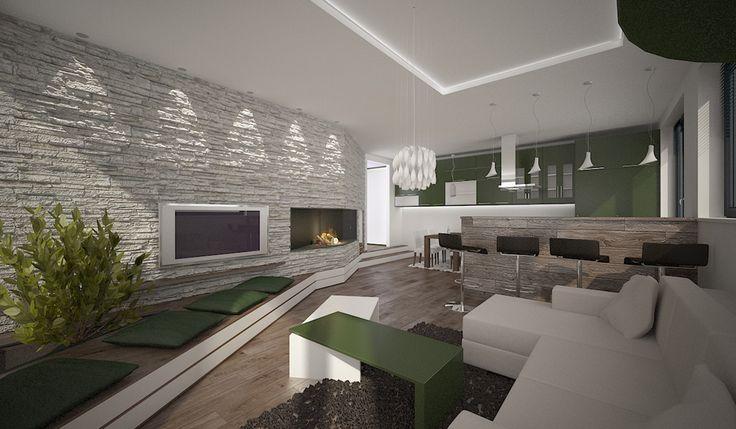 Interiérový architekt a dizajnér Opavský, realizácie interiérov Dizajn a návrh interiéru bytu vo vila dome, Bratislava