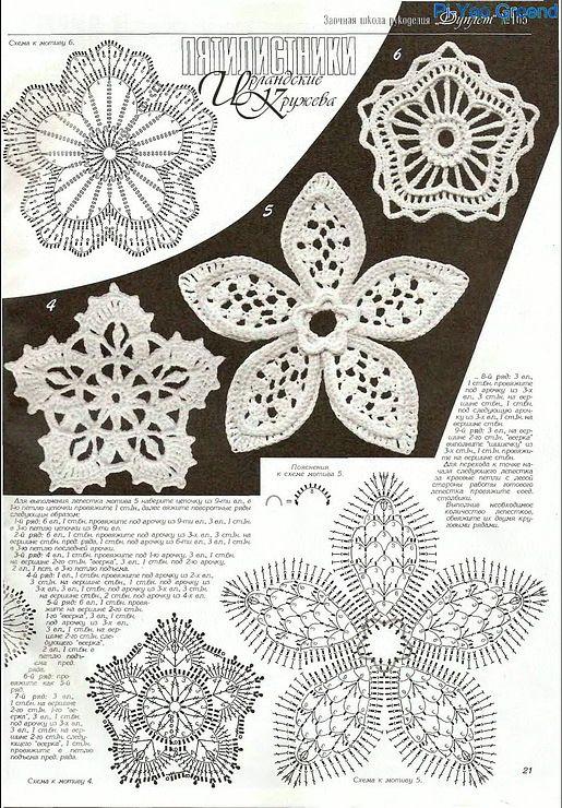 irish crochet motif ...