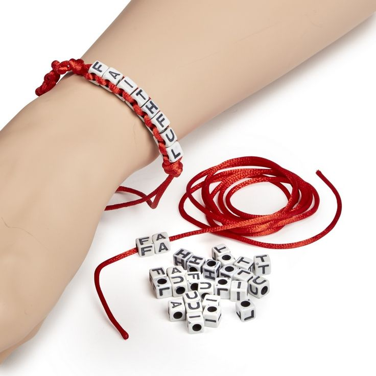 God was with Rahab and her faith saved her. Wear this bracelet proudly to show your faith and that God is for you too! Tie when complete for individual fit! Includes cord, letter beads