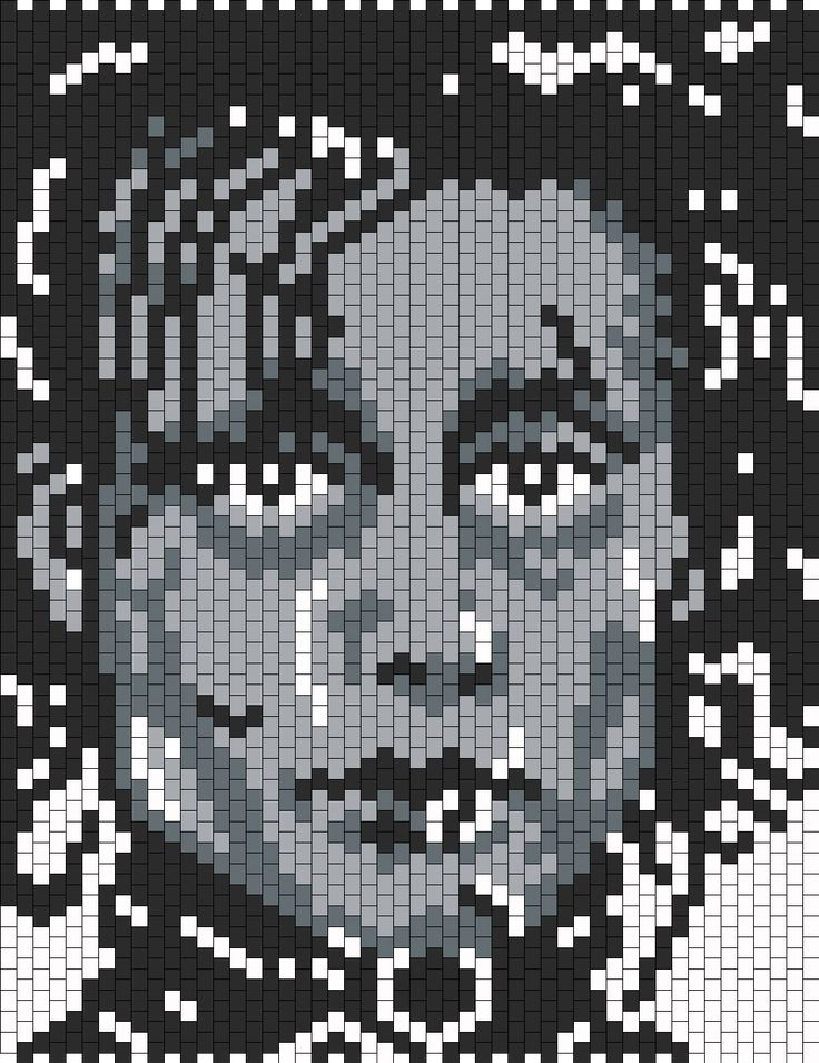 sandylandya@outlook.es Johnny Depp As Edward Scissorhands bead pattern
