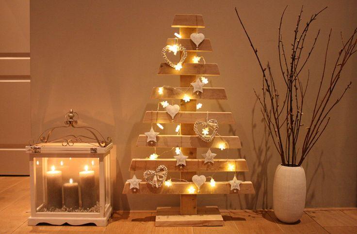 Kerst trend houten kerstboom