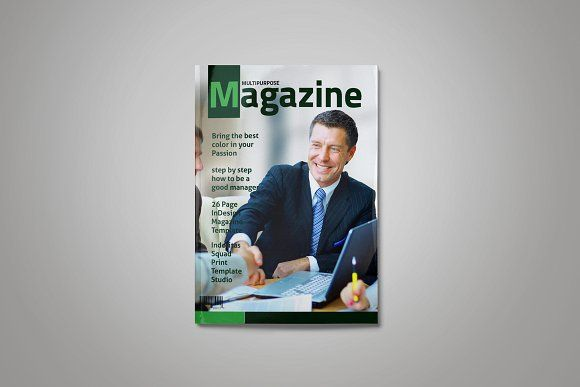 Indesign Magazine Template By Indotitas On Creativemarket Brochure Templi
