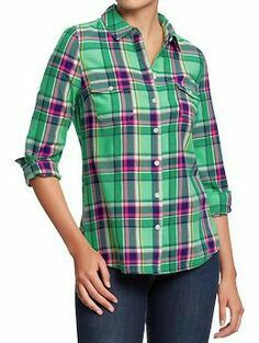 Dakine Womens Cypress Flannel Green, White, & Purple Plaid Flannel Shirt