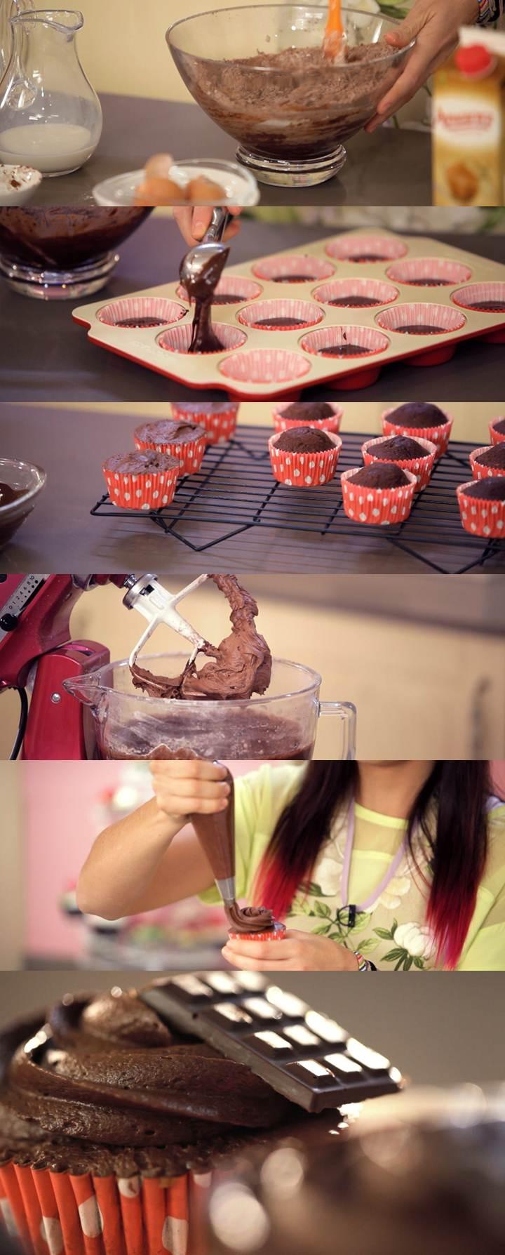 Programa 1 de Cupcake Maniacs:  Cupcakes de chocolate