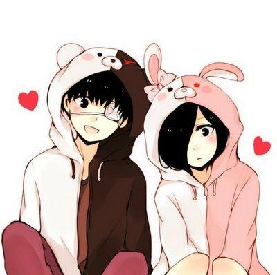 Kaneki and Touka _Tokyo Ghoul and Danganronpa crossover