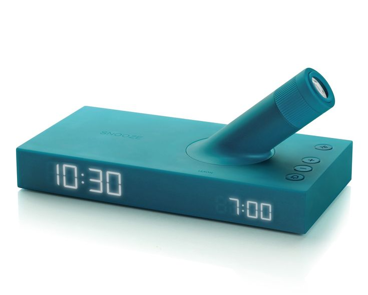 LEXON Design - Lumo - by Jeremy & Adrian Wright. LED projector alarm clock.