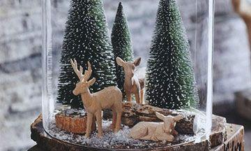 Kerstdecoratie onder de stolp