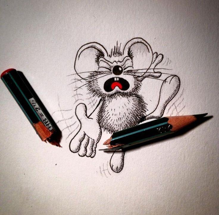Забавные мини рисунки
