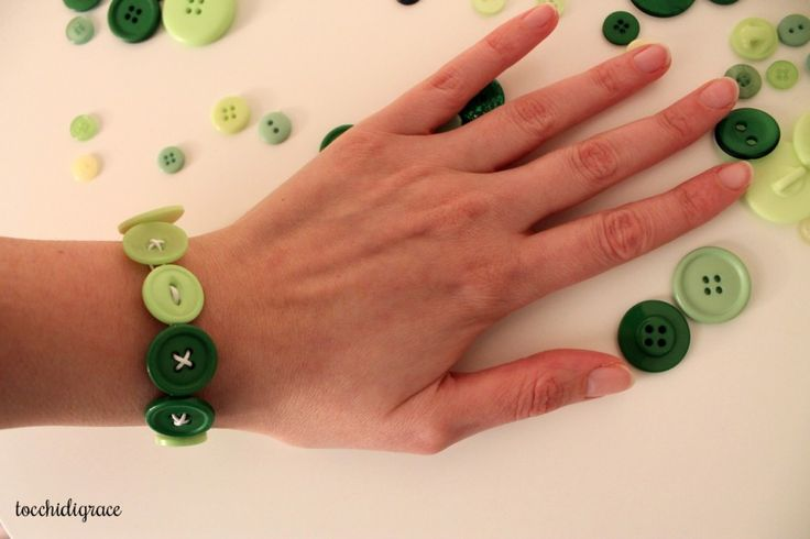braccialetto verde tocchidigrace