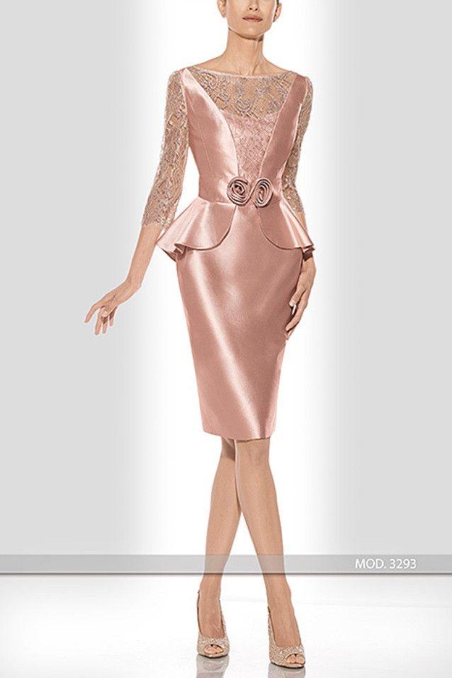 Vestido de madrina corto de Teresa Ripoll modelo 3293-2r by Teresa Ripoll   Boutique Clara. Tu tienda de vestidos de fiesta.