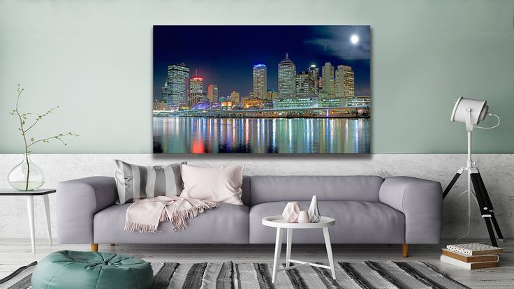"This is an original photo called ""Brisbane In Moonlight"" and you can find it at #thecanvasartfactory"