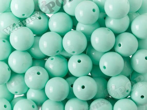 Acrylic Beads 20mm Teal