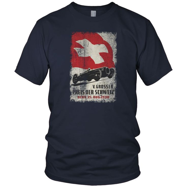 Swiss Car Race Vintage T Shirt