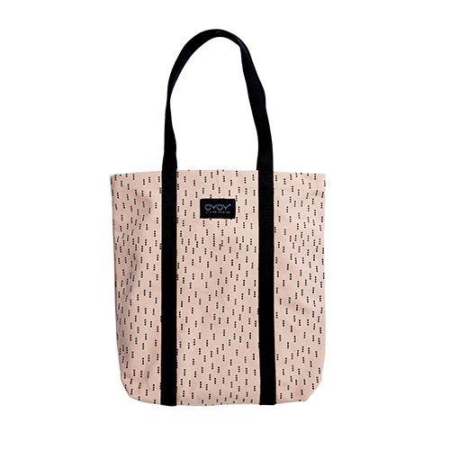 OYOY Tas Mami klein roze zwart katoen 40x60cm