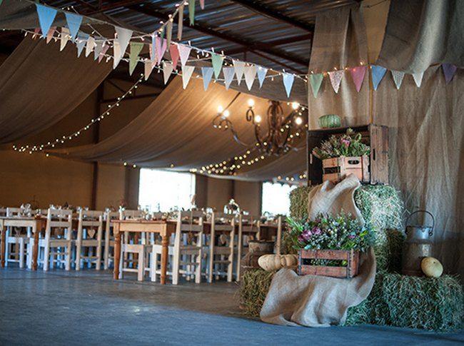 Windmills & Bunting Farm Wedding at Olive Grove | Confetti Daydreams - Windmills & Bunting Farm Wedding Reception Shed Venue♥ #Wedding #Bunting #Windmills ♥  ♥  ♥ LIKE US ON FB: www.facebook.com/confettidaydreams  ♥  ♥  ♥