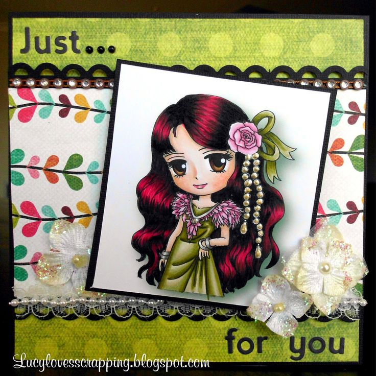 Lucy loves scrapping: Just For You card (Art By Miran image)