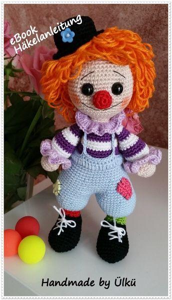 """Puppen - eBook Amigurumi Clown """"Leo"""" Häkelanleitung - ein Designerstück von handmade-by-ulku bei DaWanda"""