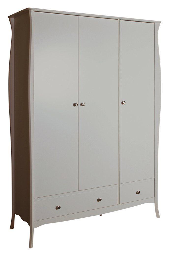 Buy Argos Home Amelie 3 Door 2 Drawer Wardrobe Grey Wardrobes In 2020 Walnut Bedroom Furniture Industrial Bedroom Furniture Drawers