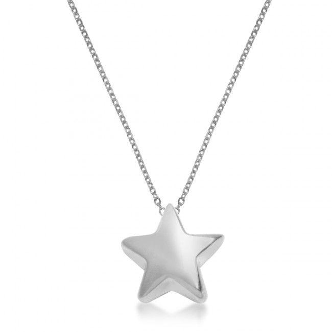 Srebrny Naszyjnik z gwiazdką, 64,80 PLN, www.Bejewel.me/srebrny-naszyjnik #jewellery #silver #bejewelme #bjwlme #shoponline #accesories #pretty #style