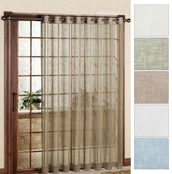 Bal Harbour Sheer Grommet Top Patio Curtain Panel | Our Bar Harbour Woven  Semi Sheer Grommet