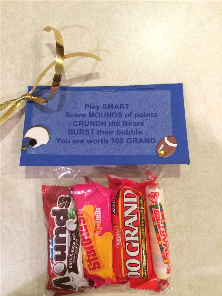 senior week candy gram football