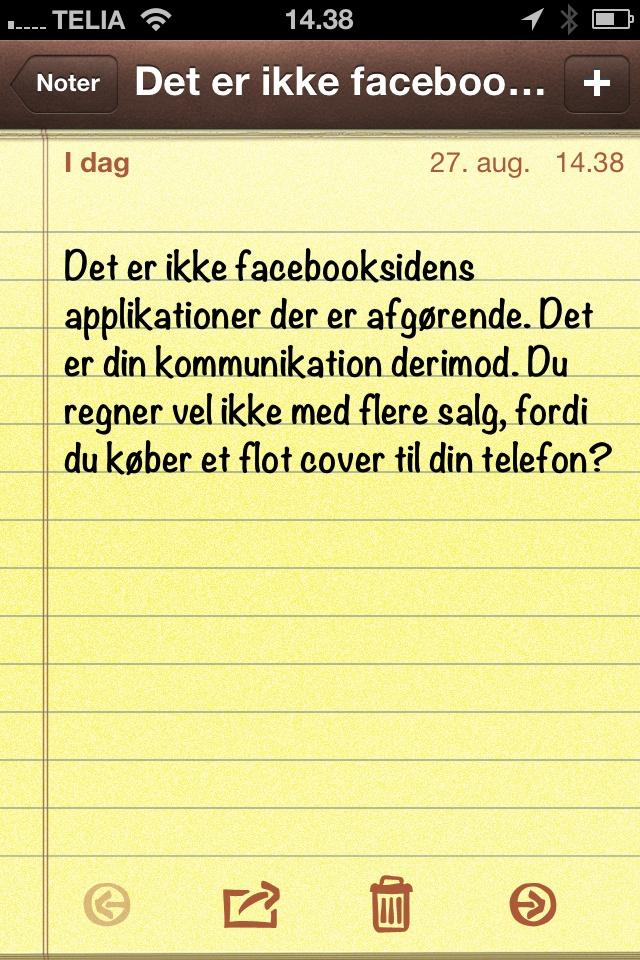 Det er ikke facebooksidens applikationer..