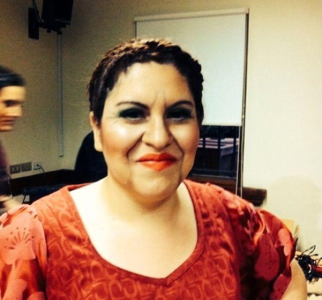 Maquillaje teatral,mujer real 27 años