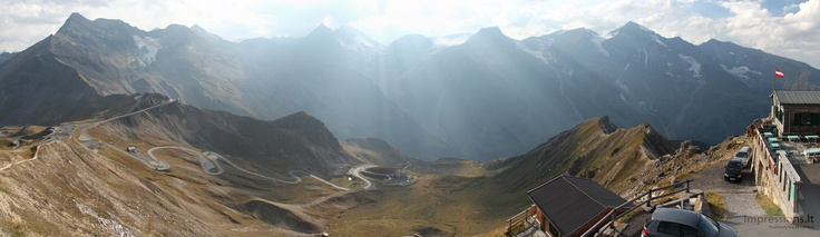Feel small in Alps, on Gross Glockner road.