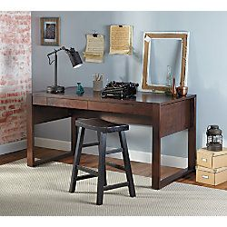 W X 29 12 D Chestnut Wood Veneer Desktop Offers A Smooth Surface Pull Out Drawer Helps Keep Important Items Within Reach At Office Depot OfficeMax