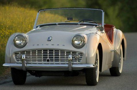 triumph TR3 - Loved opening the doors!