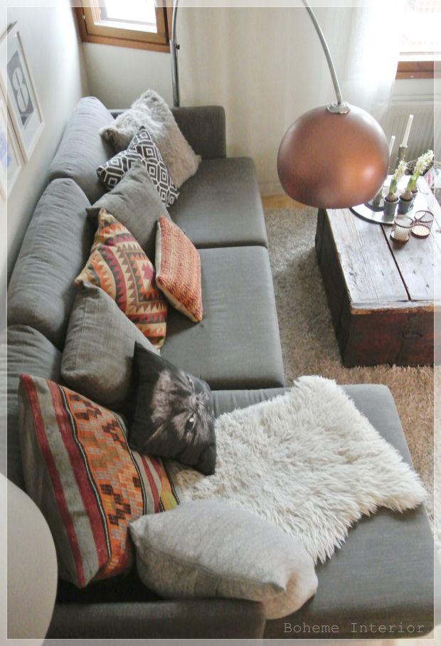 living room, joulu, joukuinen koti, boheemi, christmas home, kelim, kilim, värikäs koti, olohuone