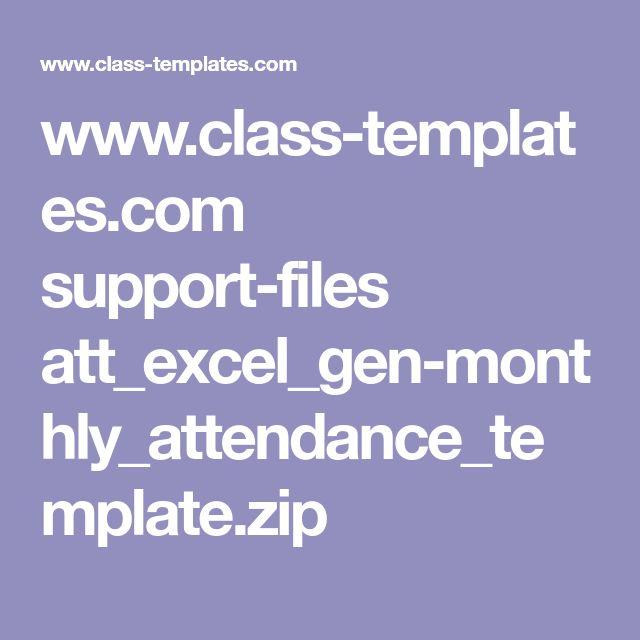 www.class-templates.com support-files att_excel_gen-monthly_attendance_template.zip