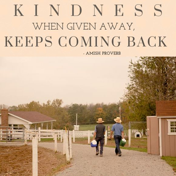 Amish Proverb about Friendship