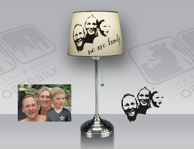 Geschenke für Frauen - Individuelle Fotoleuchte Chromfuß - ein Designerstück von Handmade_in_Oberbilk bei DaWanda