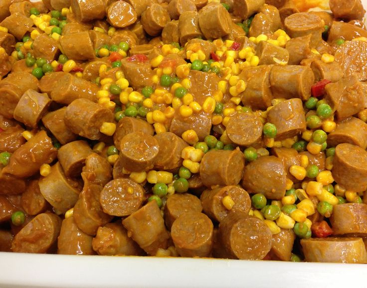 CURRIED SAUSAGES - Great quick and easy option for those cold nights.  Simply heat and eat. #adamsfamilymeats #readypreparedmeal #curriedsausages #curry #heatandeat