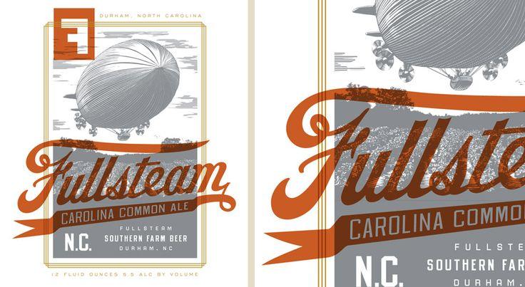 Brand Identity: Graphic Design, Design Inspiration, Fullsteam Brewery, Grains, Fullsteam Helms Workshop, Type, Typography