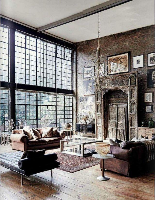 Get The Best Industrial Home Decor Ideas Www Delightfull Eu Visit Us For Industrial Style Interior Loft Design Living Room Designs Masculine Living Rooms