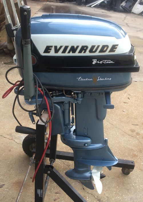 1956 30 hp Evinrude Outboard Antique Boat Motor For Sale