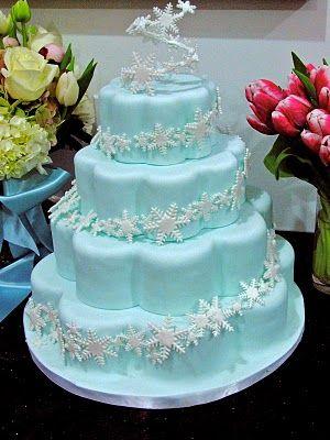 how to make a cake look like snow