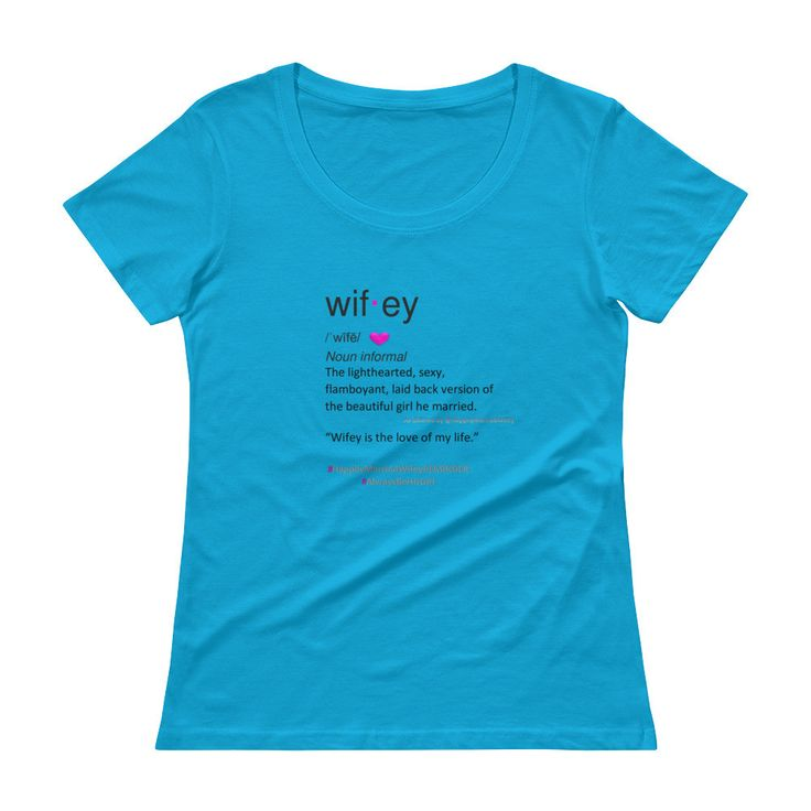 Wifey Definition Ladies' Plus Size Scoopneck T-Shirt