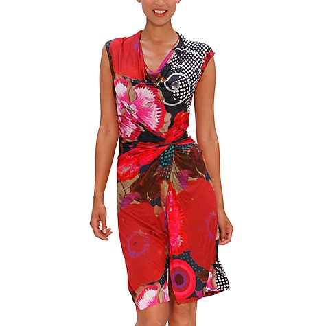 Buy Desigual Azucena Dress, Red Online at johnlewis.com