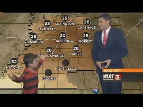 Kid Interrupts Weatherman's Live Forecast to Fart on Him and Warn Everyone of a Crazy Toot Storm